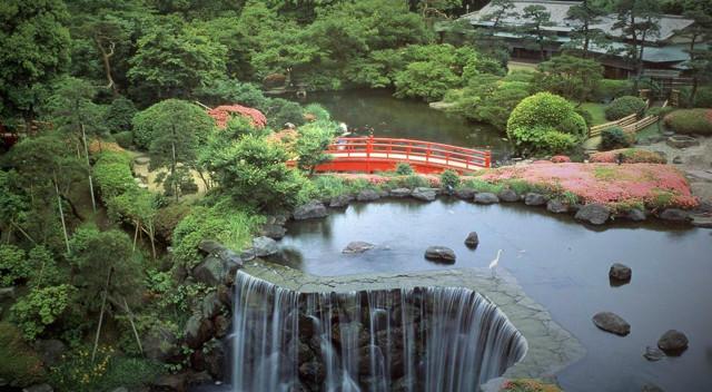 新大谷飯店的日本庭園