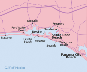Crystal Beach Destin Fl Map | The best beaches in the world