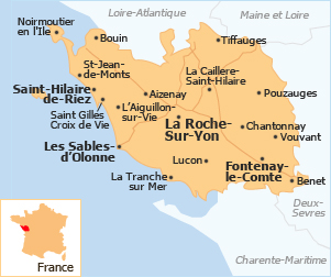 Map of france vendee  Travel